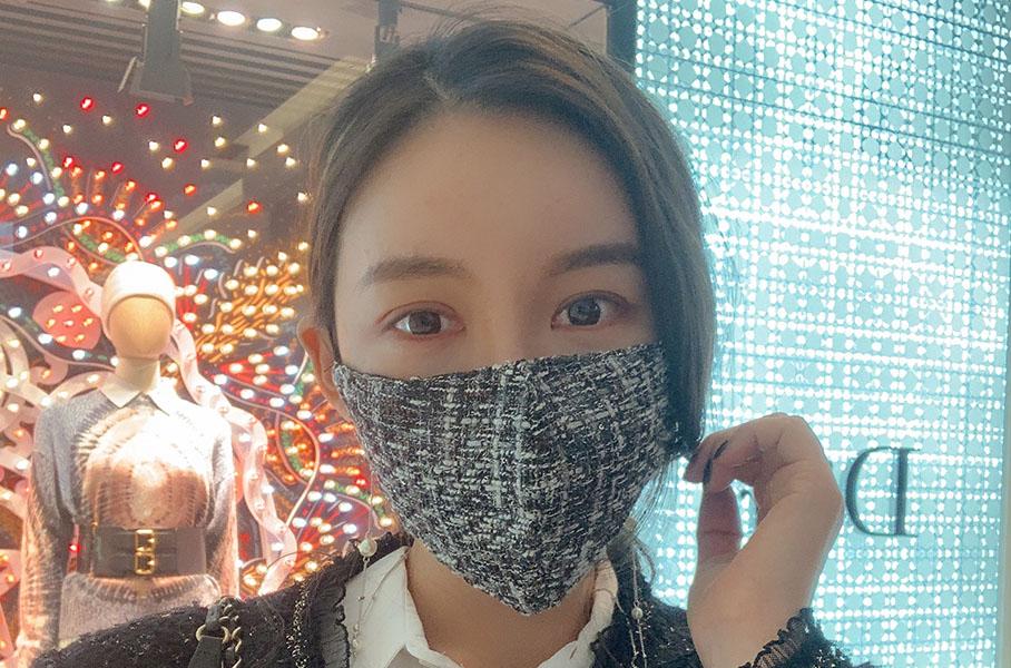 ツイードフィルターの交換型マスク